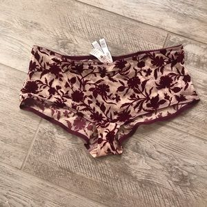 NWT VICTORIA'S SECRET VELVET SHORTIE